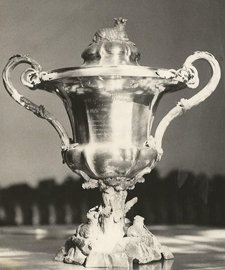 Wool Trade Promotion Cup presented to Barry & Nephews in the 1850s