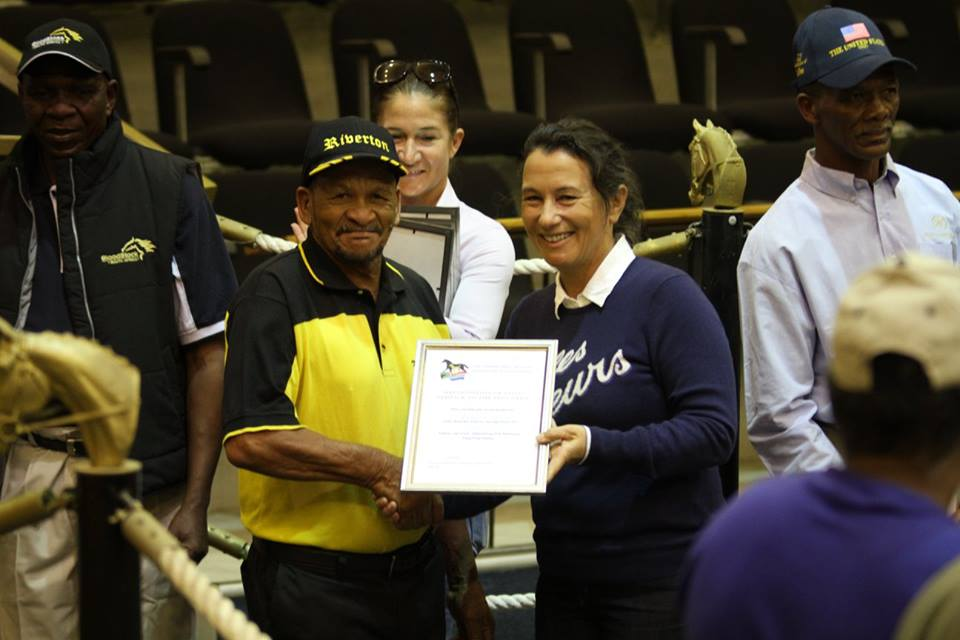Congratulations to Mr. A. Carelse, Riverton Stud Head Groom, on receiving a Long Term Service Award from the TBA in May 2017.