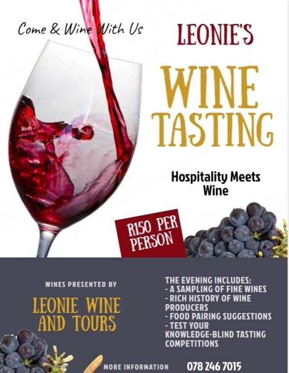Leonie Private Wine Tasting